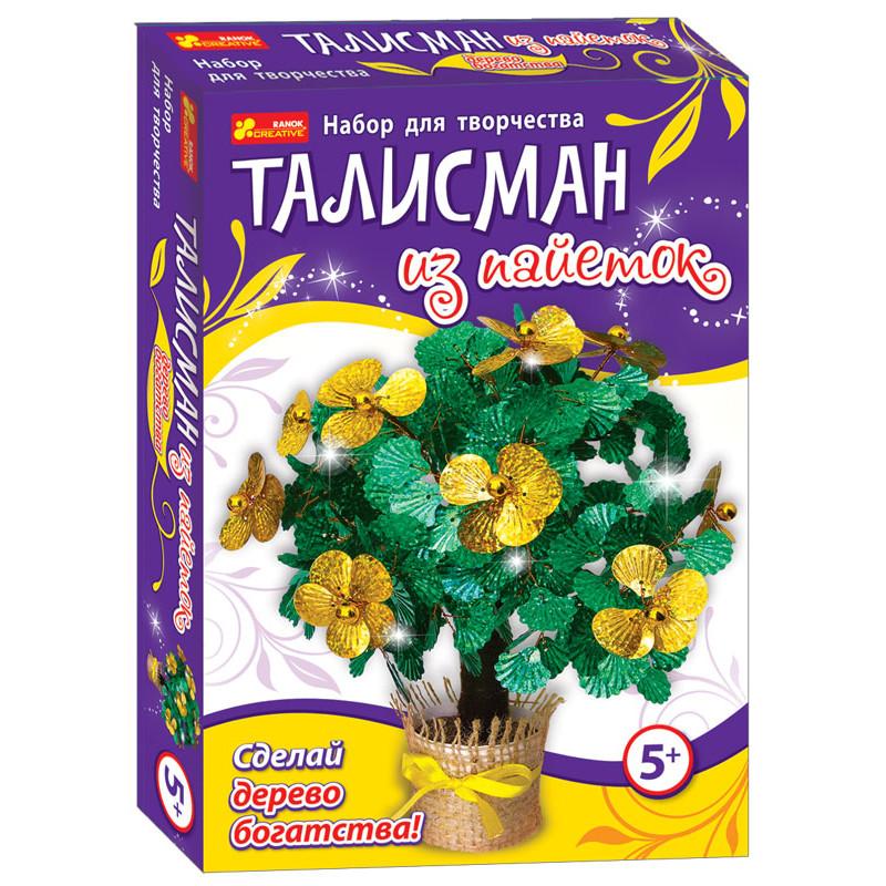 Дерево богатства - Талисман из пайеток