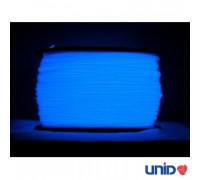 Катушка UNID PLA пластика 1000гр. (синий, светится в темноте)