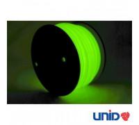 Катушка UNID PLA пластика 1000гр. (зеленый, светится в темноте)