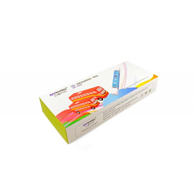 3D ручка Myriwell-3 RP100С с дисплеем, голубой металлик