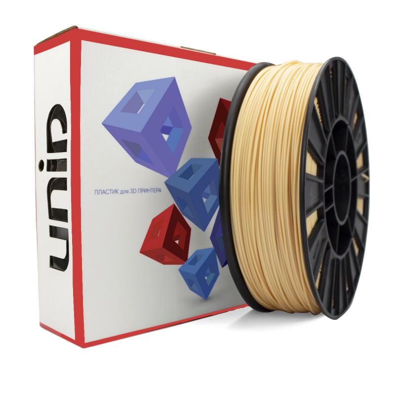 Катушка UNID PLA пластика 1000гр. (телесный, бежевый)