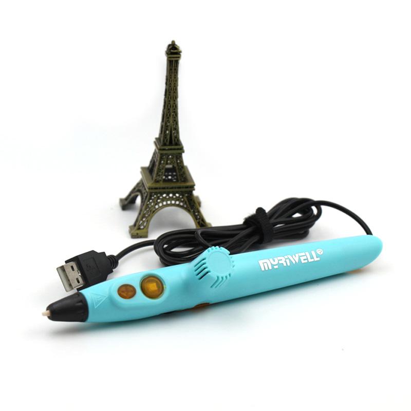 3D ручка Myriwell rp200a, Светло-Голубая (KID) Низкотемпературная.