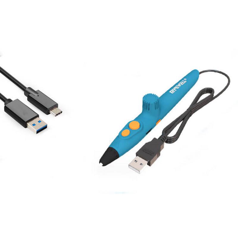 3D ручка Myriwell rp200a, Синяя (HOT) Биопластик PLA.