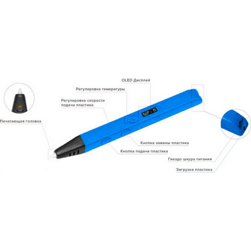 3D Ручка RP-800A (ORIGINAL), синяя