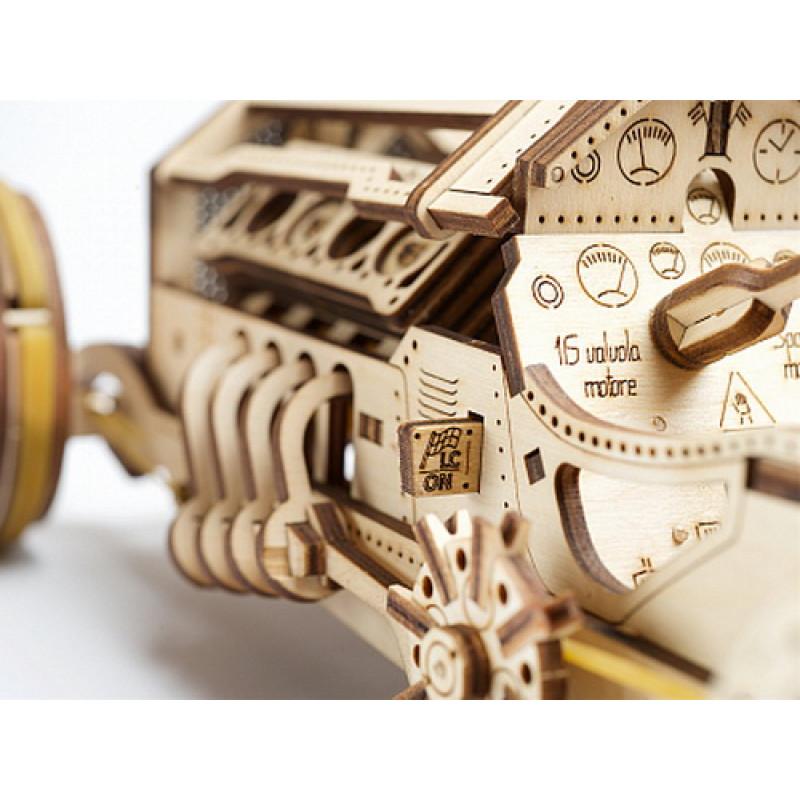 """3D пазл UGEARS """"Спорткар U-9 Гран-при"""""""