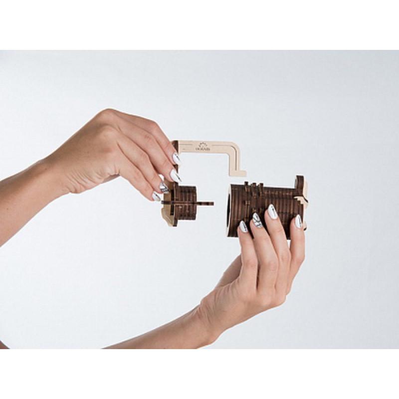 """3D пазл UGEARS Кодовый замок """"Код Да Винчи"""""""