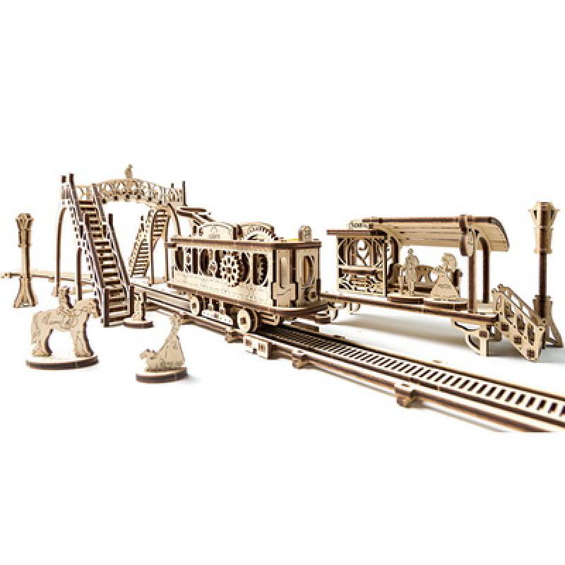 "3D пазл Ugears ""Трамвайная линия"""