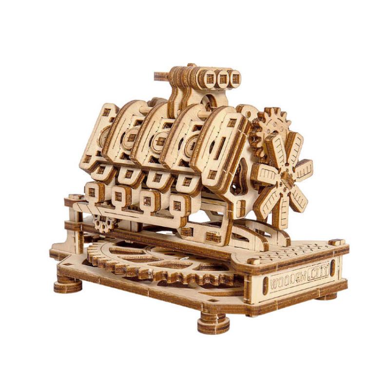 3D модель Двигатель V8 Wooden City