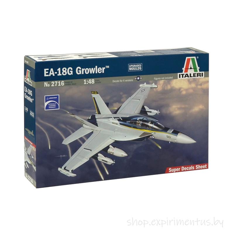 Сборная модель Палубный самолет EA-18G Growler (1:48) 2716 Italeri