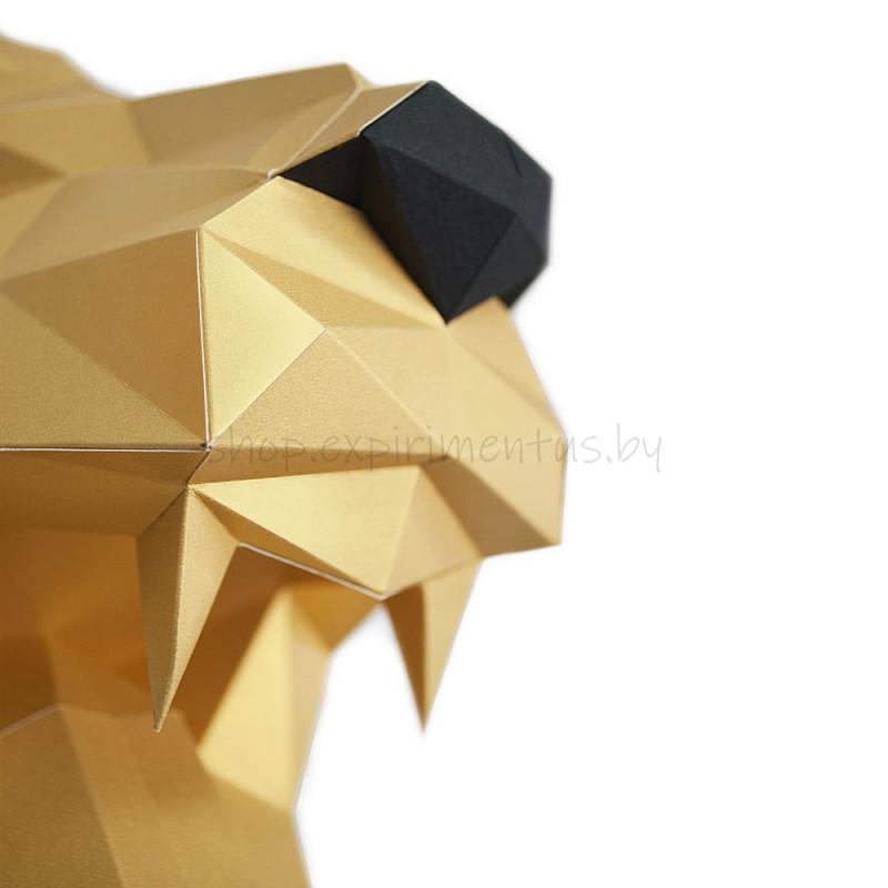 "3D-конструктор из бумаги  ""ЛЕВ НИКОЛАЕВИЧ (золотой)"" на стену PP-1LVN-SOL PAPERRAZ"
