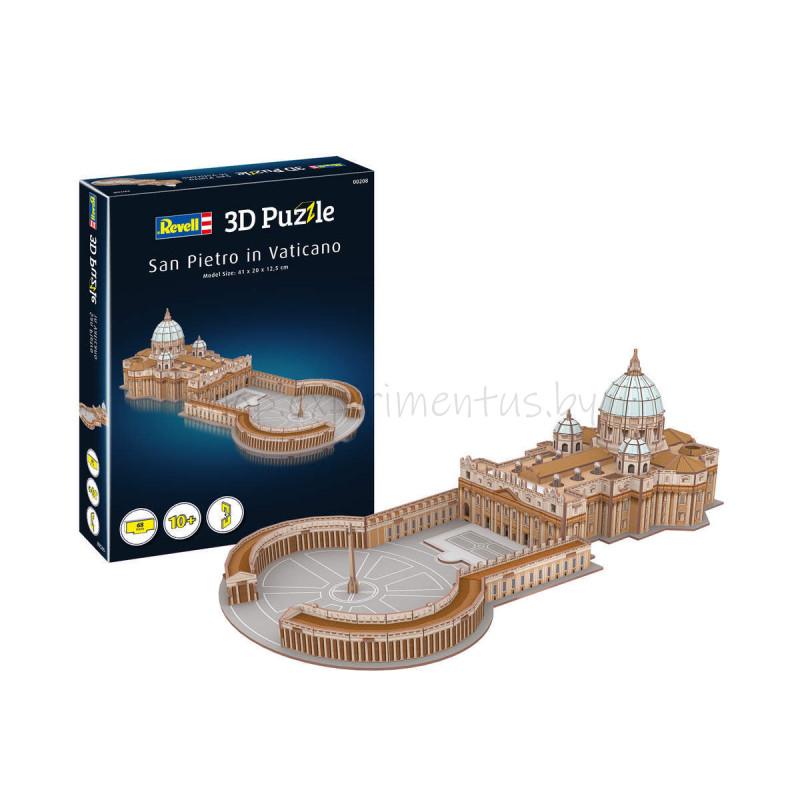 """3D ПАЗЛ """"Собор Святого Петра в Ватикане"""" (410 х 200 х 125 мм), 10+"""