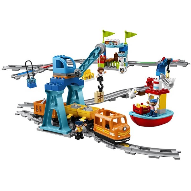 LEGO DUPLO 10875 Конструктор ЛЕГО ДУПЛО Грузовой поезд