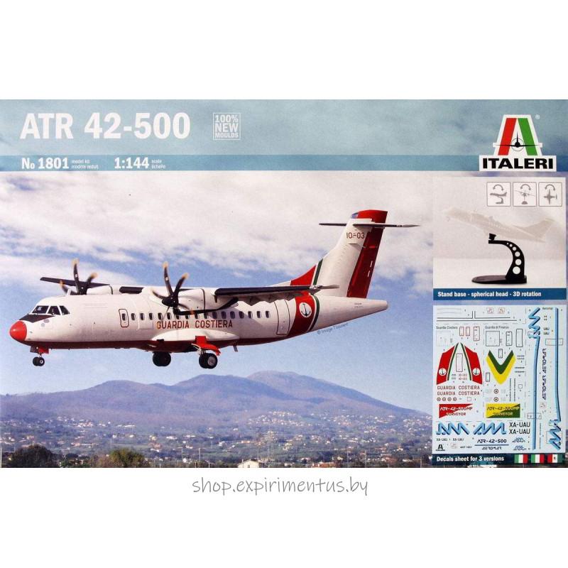 Сборная модель Пассажирский двухмоторный турбовинтовой самолет ATR 42-500 (1:144) 1801 Italeri