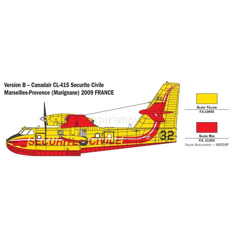 Сборная модель Самолет Canadair CL-415 (1:72) 1362 Italeri