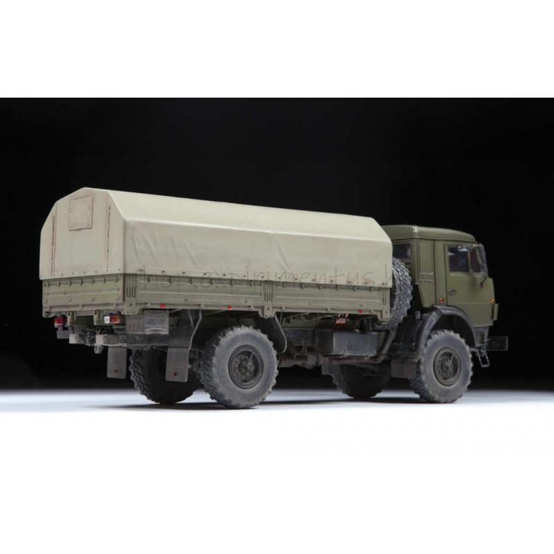 Сборная модель: Российский двухосный грузовой автомобиль К-4350 3692 ЗВЕЗДА