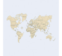 "3D модель Wooden City Карта мира ""XLL"" 3D пазл Размер 1200*800мм"